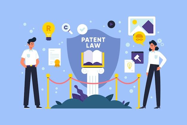 特許法のイラスト Premiumベクター