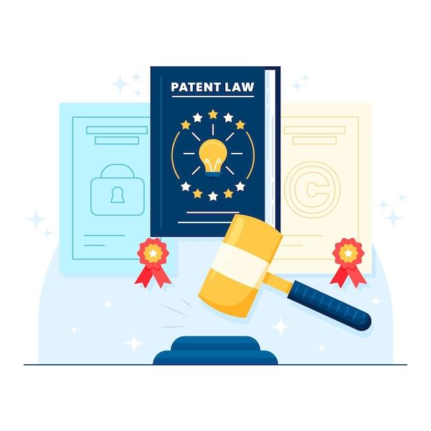 特許法のイラスト 無料ベクター