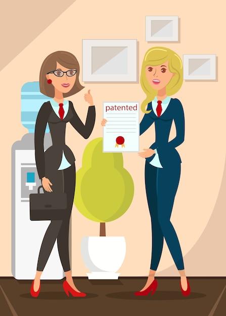 Patented product certificate Premium Vector