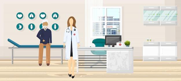 Patient at doctor consultation illustration Premium Vector