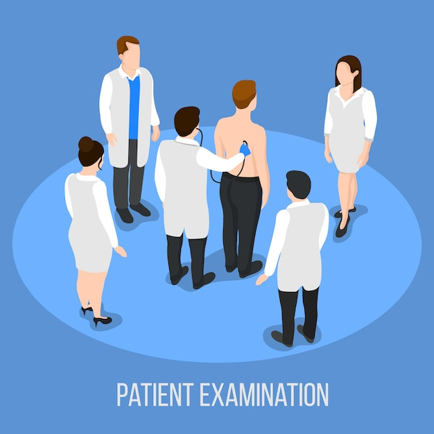 Patient examination medical background Free Vector