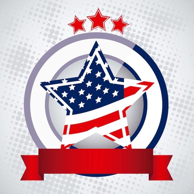 Patriot background Premium Vector