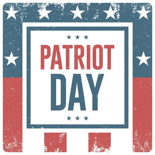 День патриота фон. вектор флаер, баннер, плакат Premium векторы