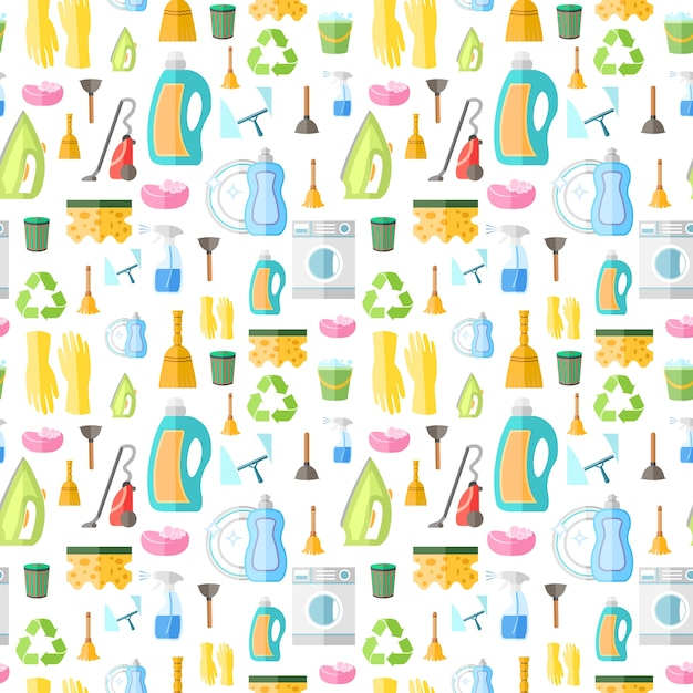Pattern About Cleaning Vector Free Download