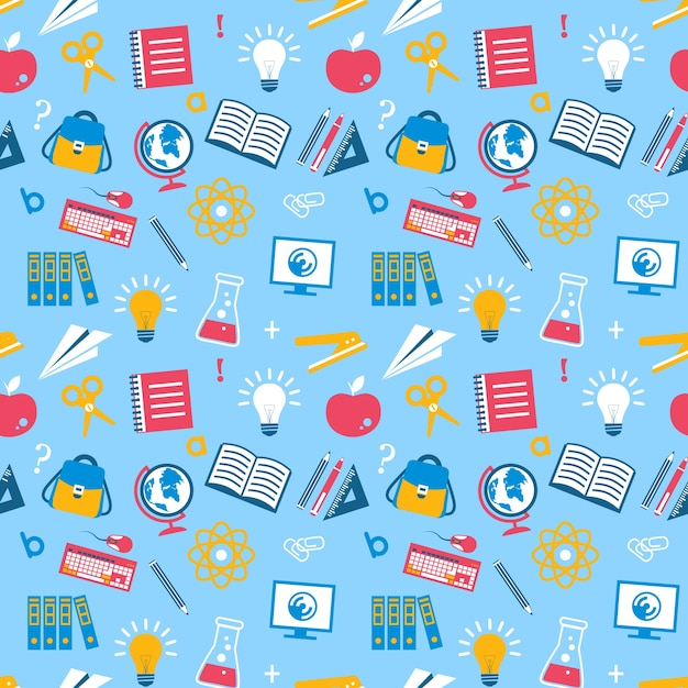 Pattern about education Free Vector