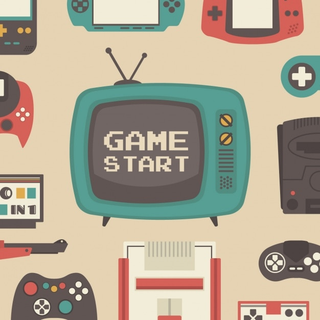 Pattern about video games Free Vector
