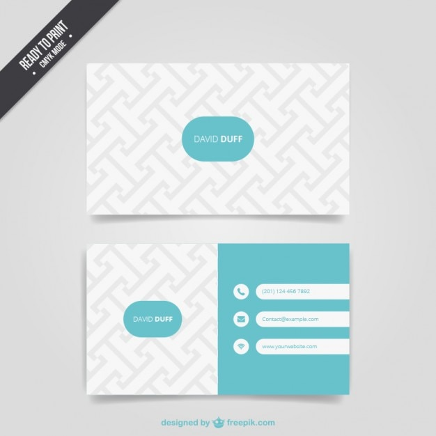 Pattern business card vector free download pattern business card free vector reheart
