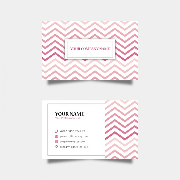 Pattern business card Premium Vector