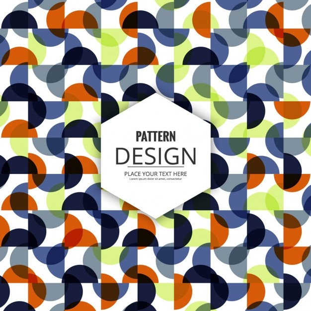 Pattern circular shapes and square Free Vector