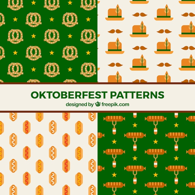 Pattern collection with oktoberfest elements