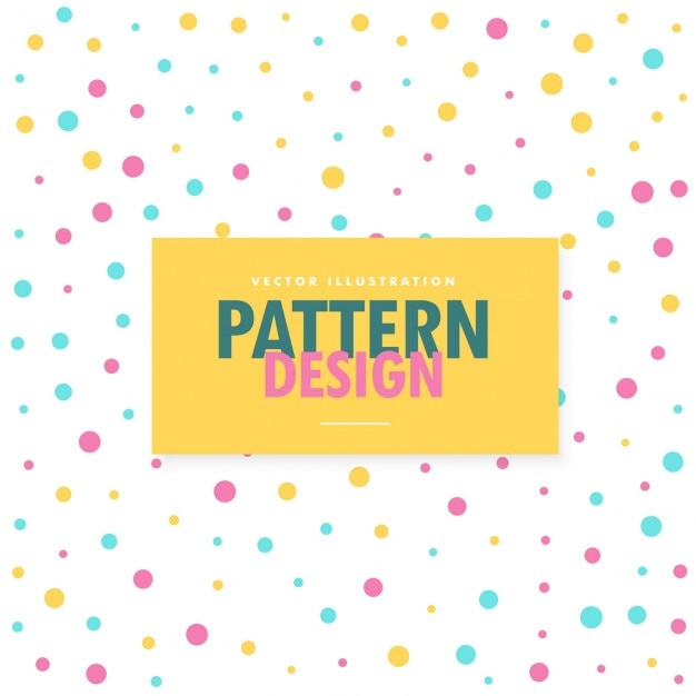 Pattern of colored dots Free Vector