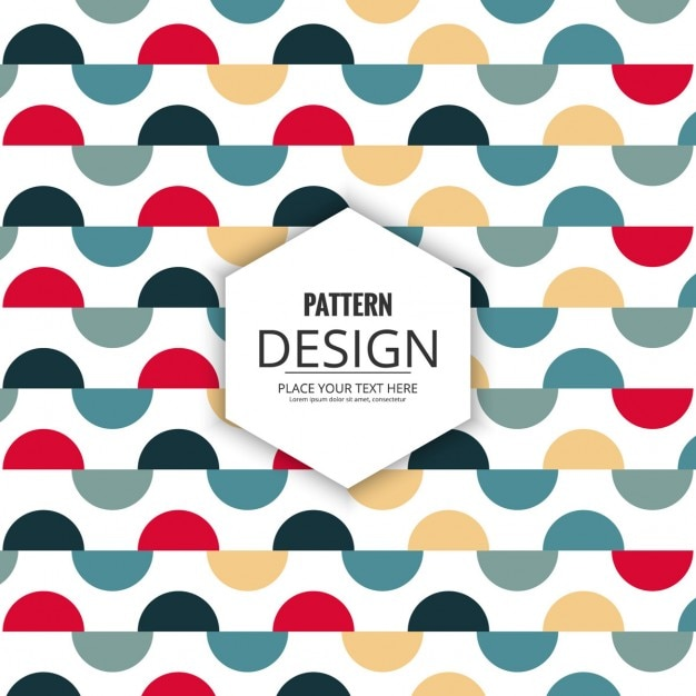 Pattern of colored semicircles Free Vector