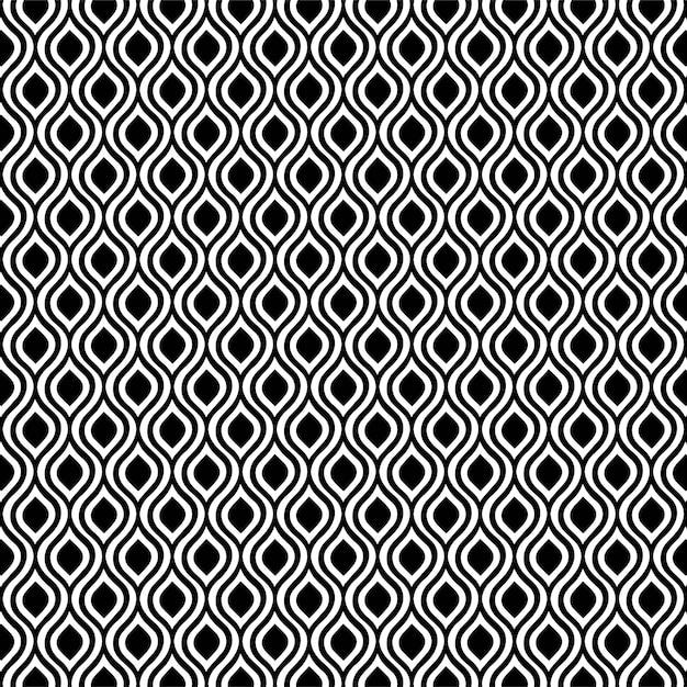 Premium Vector Pattern Design Geometric Seamless Diamond Background Black And White
