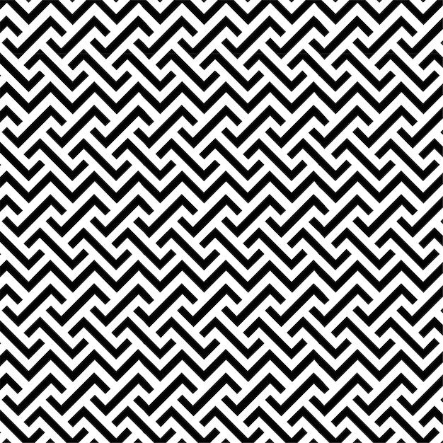 Шаблон дизайна геометрических бесшовные линии фон черный и белый Premium векторы
