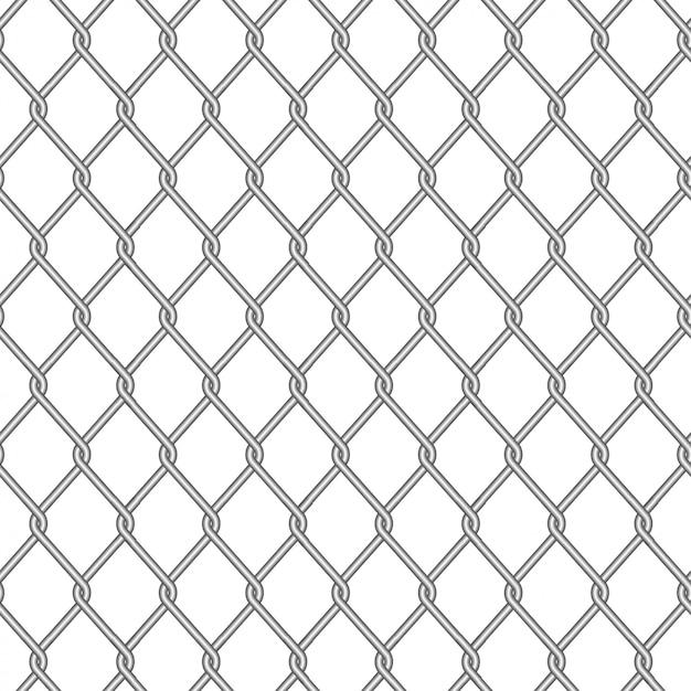 Шаблон забор колючая иллюстрация, безопасная металлическая сталь Premium векторы