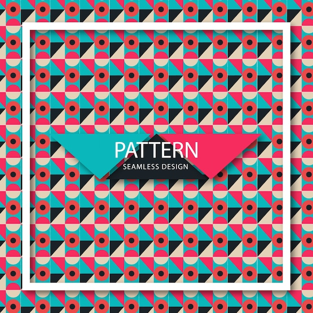 Pattern of geometric colored shapes Premium Vector