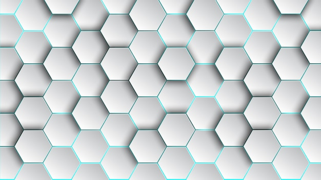 Pattern hexagon background abstract and geometric wallpaper with cover web shape Premium Vector
