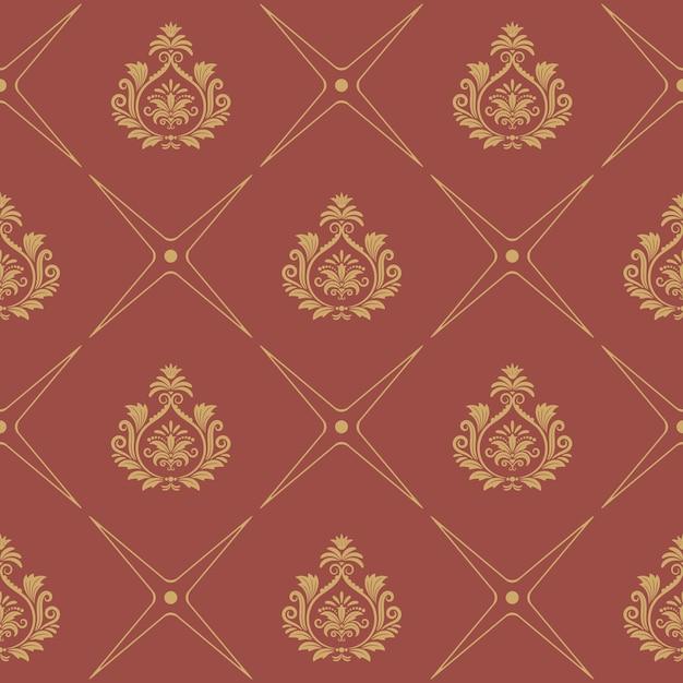 바로크 스타일의 패턴. 우아한 벽지 장식 무료 벡터
