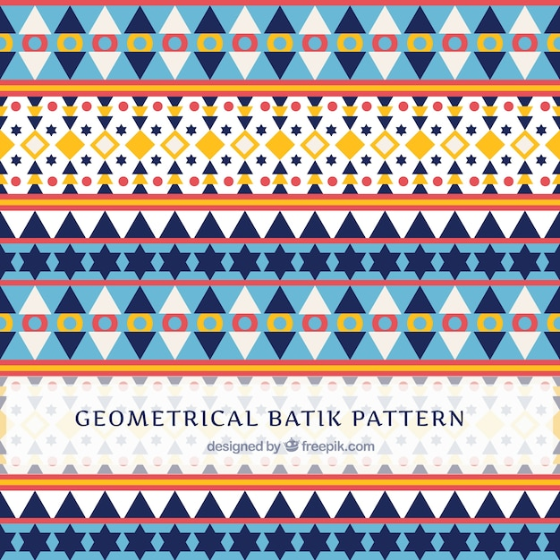 Pattern In Batik Style With Geometric Shapes Vector