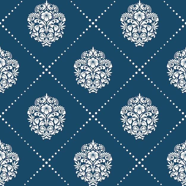 スタイルのビクトリア朝のバロック様式のパターン。花の要素の背景飾り、 無料ベクター