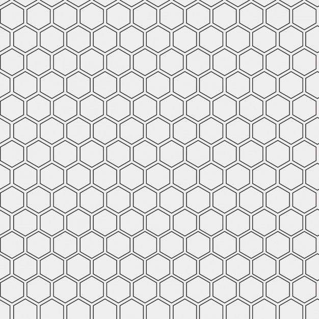 Pattern made with outlined hexagons Free Vector