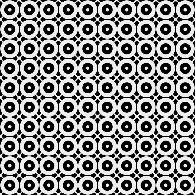 Шаблон монохромные с cirlces Бесплатные векторы