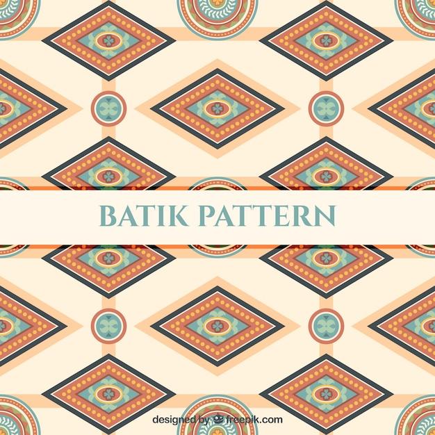 Pattern Of Batik Geometric Shapes Vector