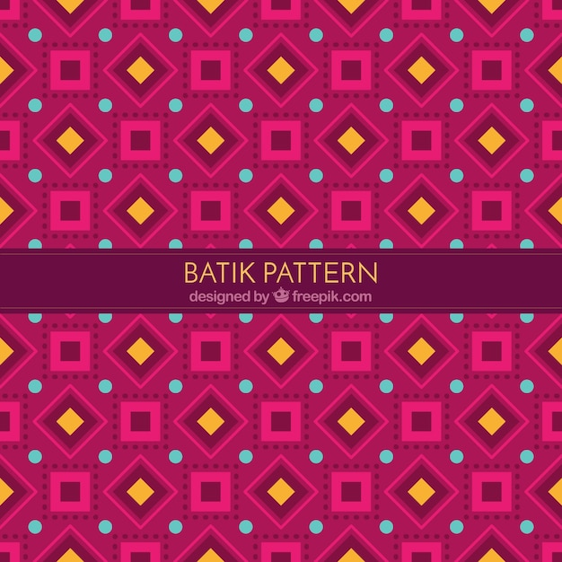 Pattern Of Batik Geometric Shapes Vector