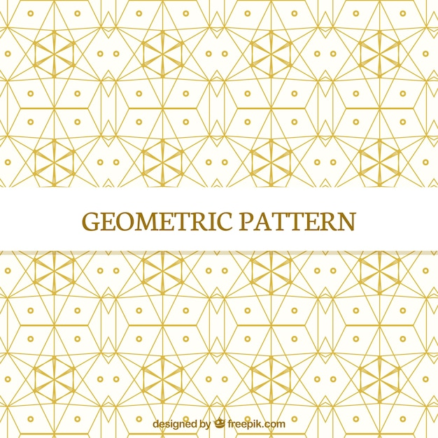 Pattern of golden geometric shapes