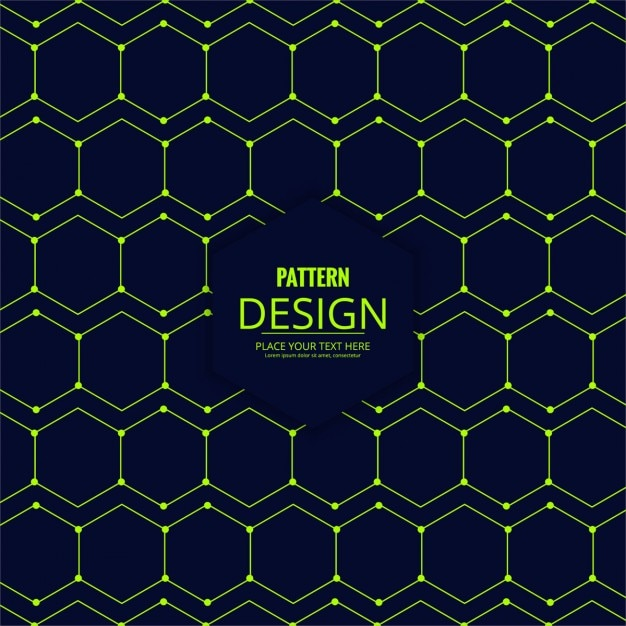 Pattern of green hexagons Vector | Free Download