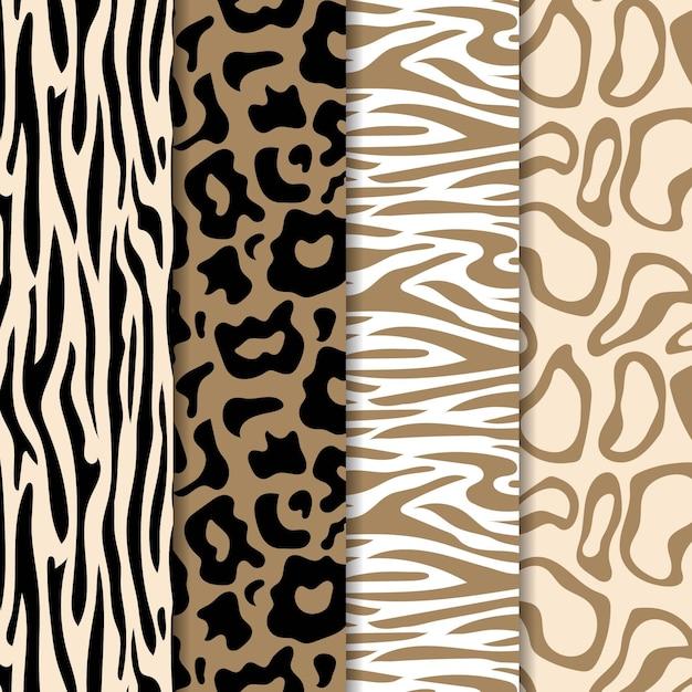 現代の野生動物の毛皮のパターン 無料ベクター