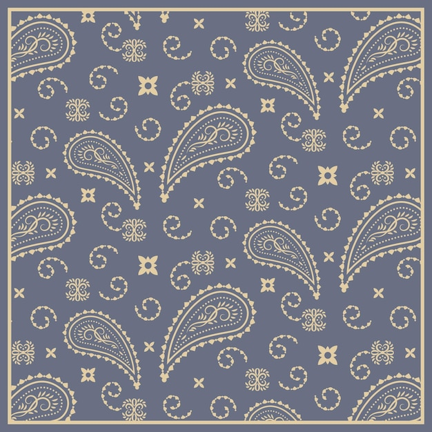Pattern in paisley bandana style Free Vector