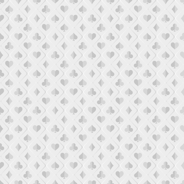 Premium Vector Pattern Poker And Casino Poker Card Suits On White Background