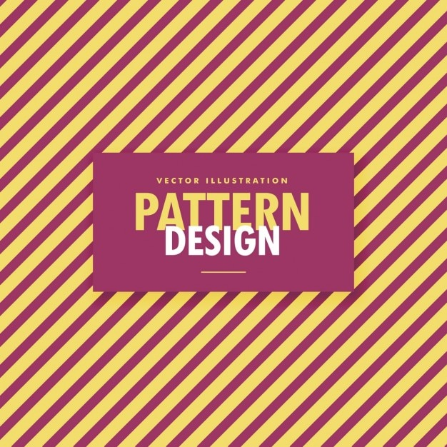 Pattern of red lines on yellow background Free Vector
