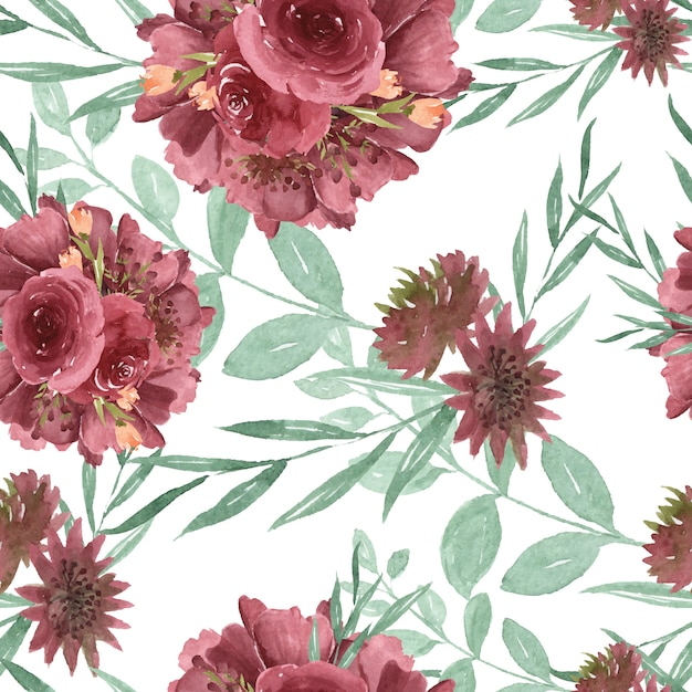 Pattern seamless floral Premium Vector