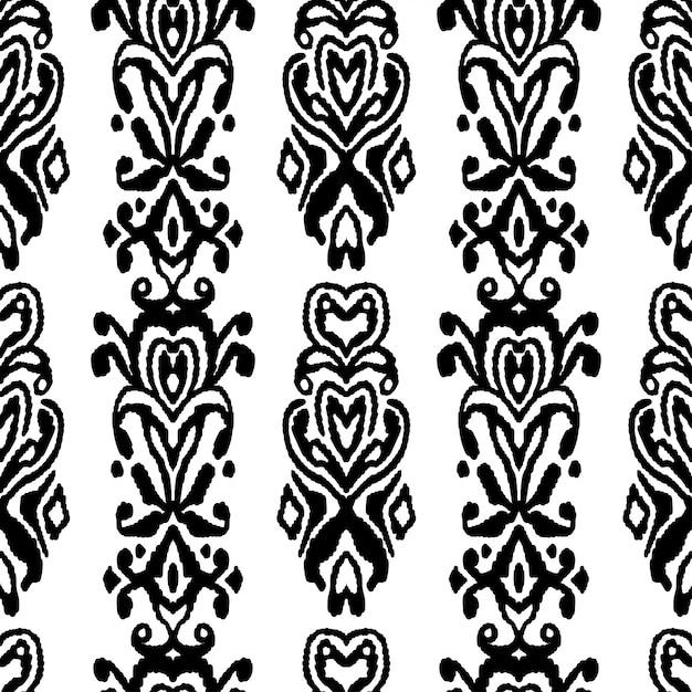 Pattern seamless folklore ornament Premium Vector