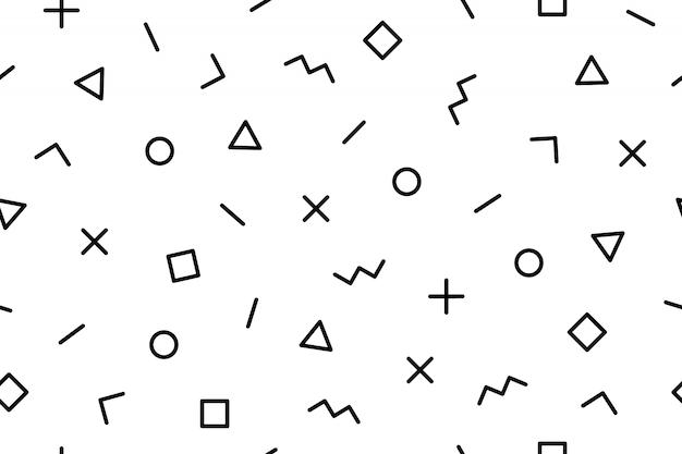 Pattern. seamless geometric graphic pattern styles Premium Vector