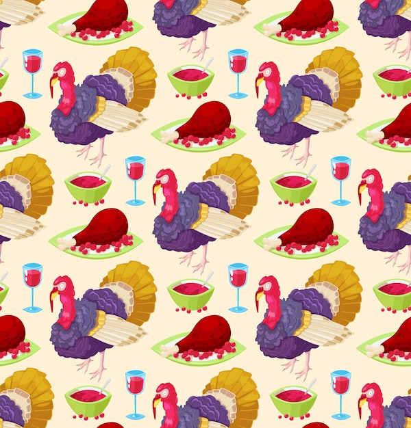 Pattern for thanksgiving day Premium Vector