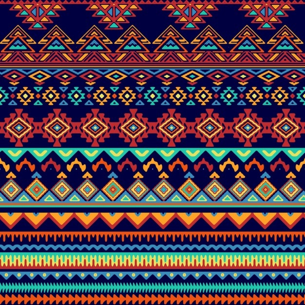 Pattern In Tribal Style Vector Free Download