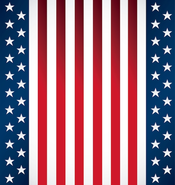 Pattern of united state of american flag s Premium Vector