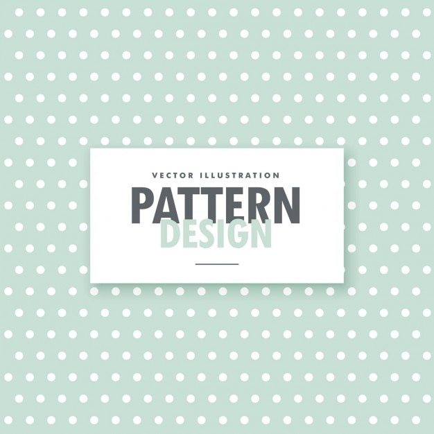 Pattern of white dots on a green background Free Vector