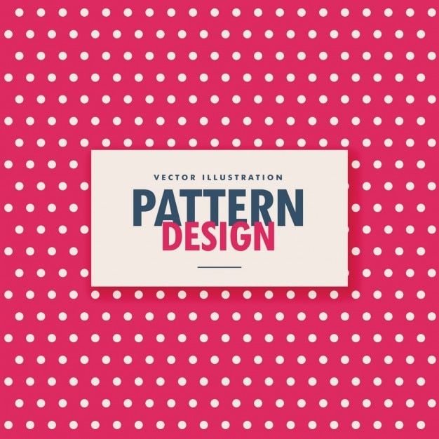 Pattern of white dots on a red background Free Vector