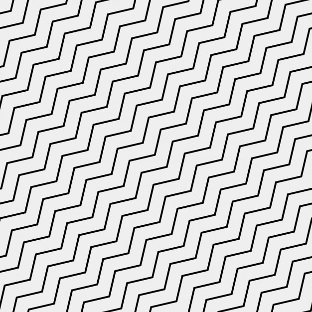 Pattern with black zig zag lines Free Vector