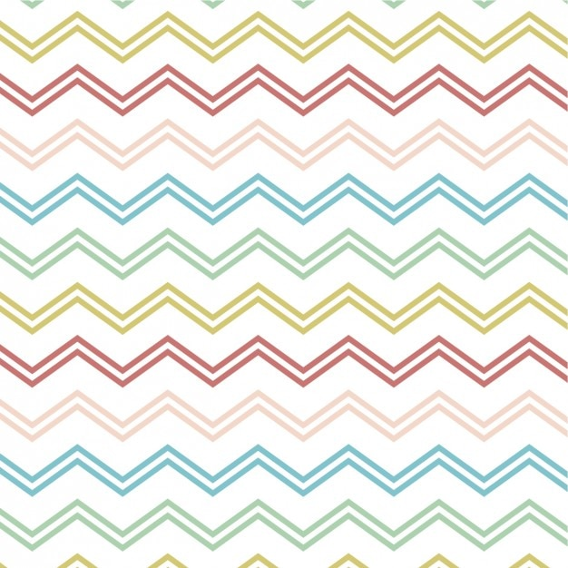 Line Drawing Of Zig Zag : Pattern with colorful zigzag lines vector free download