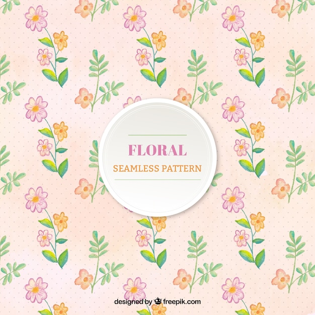 Pattern with flowers in pastel colors Free Vector