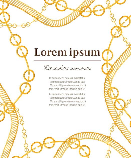 Pattern with golden chains Premium Vector