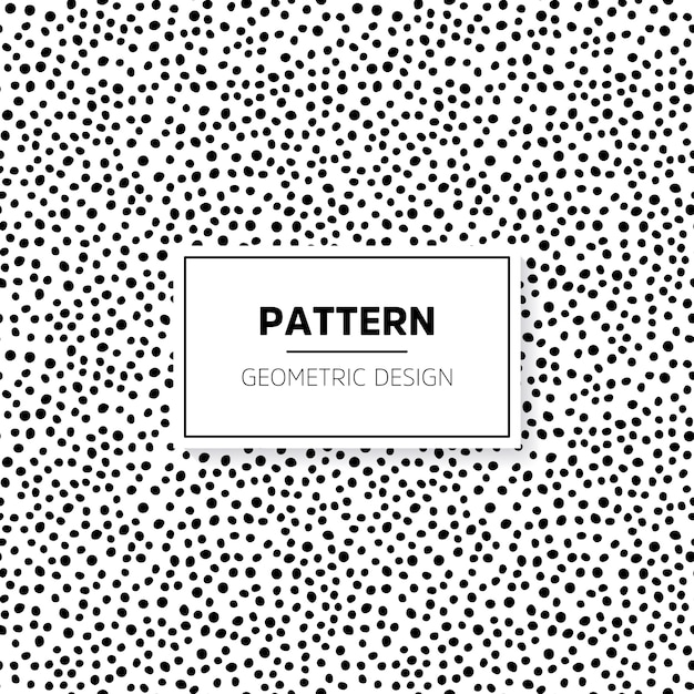 Pattern with hand drawn small dots vector premium download for Ben day dots template