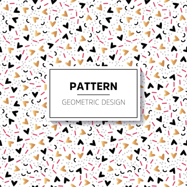 Pattern with hand painted symbols Free Vector