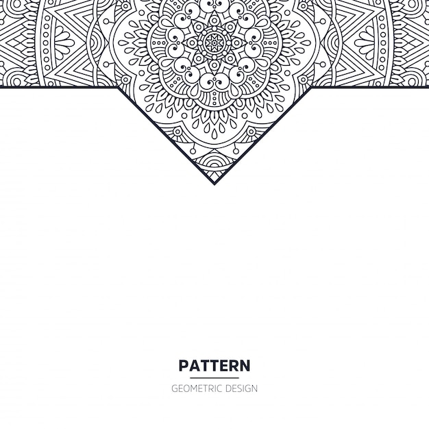Pattern with mandala Free Vector