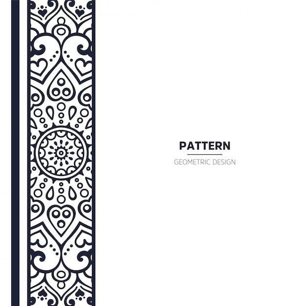 Pattern with mandala Free Vector